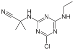 Chemical structure of Cyanazine