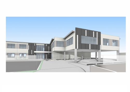 Conceptual external plan for APVMA Armidale office - side