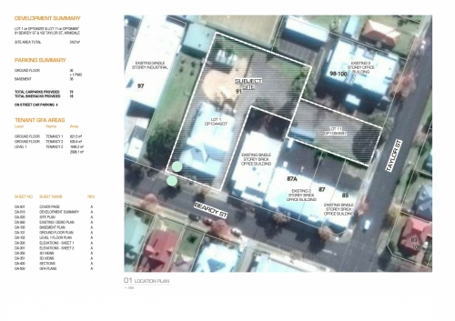 Aerial contextual view of the APVMA premises in Armidale