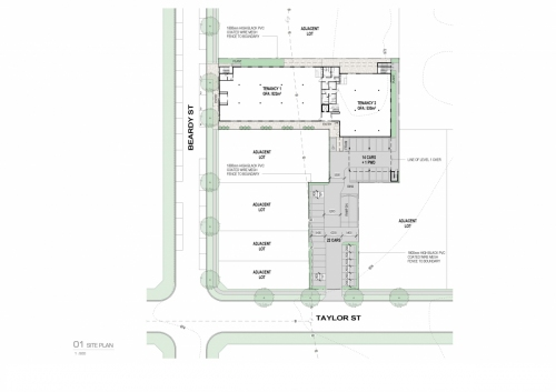 floor plan (1st floor) and carpark plan for APVMA Armidale office