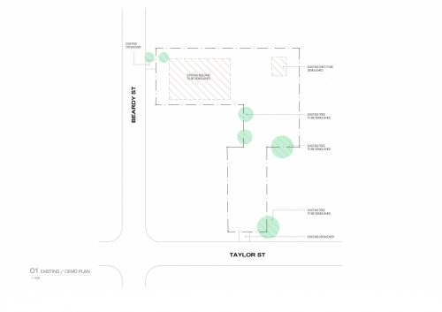 Existing/Demo plan of the premises where the APVMA Armidale office will be built.