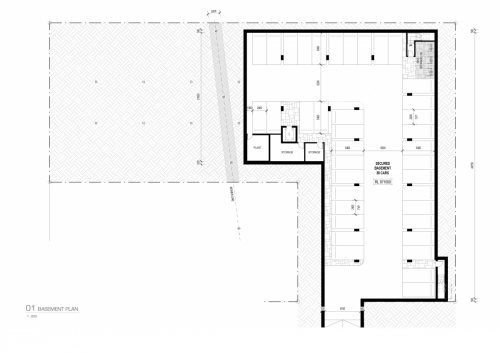 Basement plan for the APVMA office in Armidale.