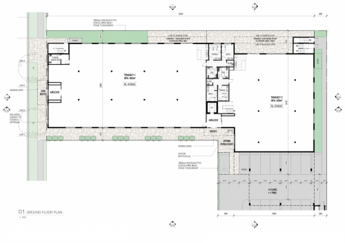 Ground floor plan for the APVMA office in Armidale