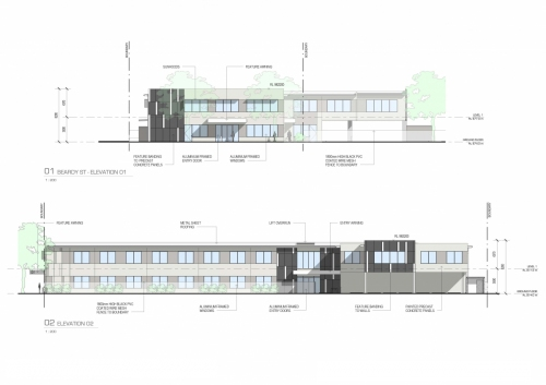 Beardy street elevations for the APVMA Armidale office